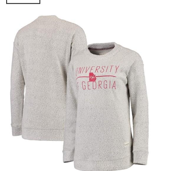 pressbox Tops - UGA pressbox womens terry crewneck sweatshirt